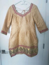 women's brown and pink long sleeve dress Surrey, V3S 4E7