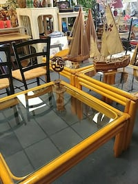 Rattan Cffee Table & End Tables