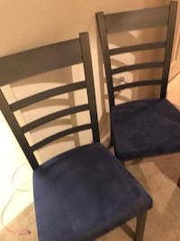 two black wooden armless chairs Saint Charles, 63303