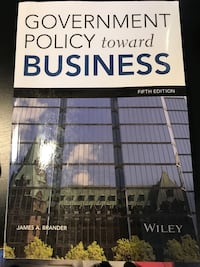 Government Policy toward business fifth edition by James A. Brander book 伦敦, N6G 1G5