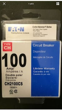 Eaton 100 Amp Double-Pole Type CH Breaker - Model CH2100CS