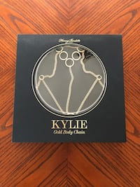 Kylie womens Gold body chain size extra small/small