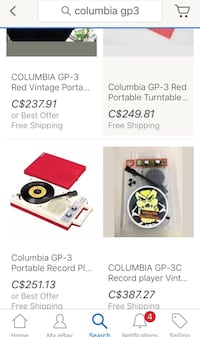Columbia g-p3 vintage record player  Winnipeg, R3B 2S6