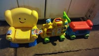 Fisher-price laugh/learn chair&VTech ride train    Columbus, 43204