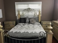 white and gray floral bed sheet El Cajon, 92020