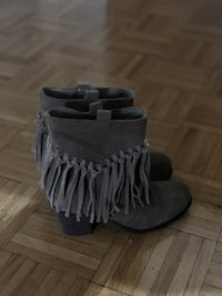 AVAILABLE ANTHROPOLOGY FRINGE BOOTIES SIZE 8  Toronto, M2J