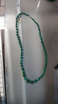 Jade bead necklace SPRINGFIELD
