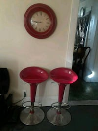two red and chrome salon/ bar stools New Bedford, 02740