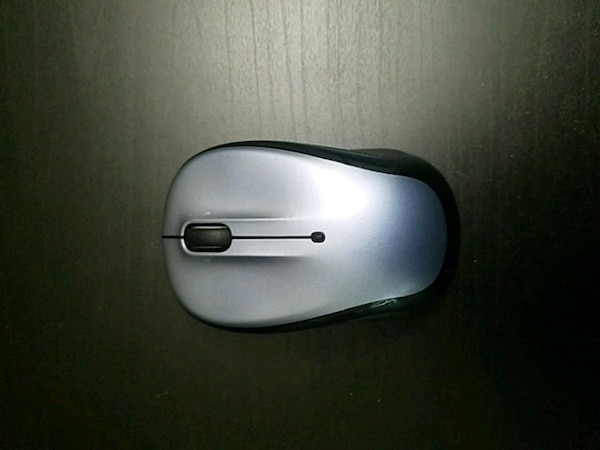 gray and black corded computer mouse
