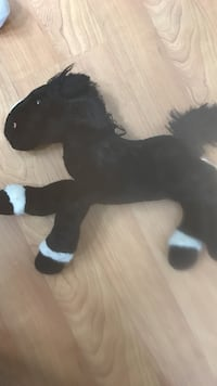 Used Black And White Horse Plush Toy For Sale In Vallejo Letgo