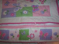 Baby crib bumper, skirt, comforter, fitted sheet, butterfly shaped rug  Mentor