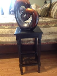 Black stand wooden side table