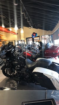 Black and gray touring motorcycle Houston, 77018