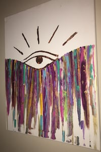 Rose Gold Mystic 3rd Eye art/ painting by Chicago artist