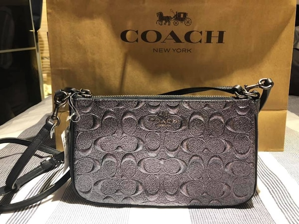 1d65e59eb900 Used F39734 - Coach Top Handle Pouch in Signature Leather for sale ...