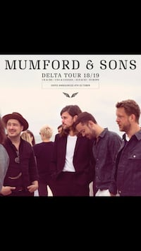 Mumford & Sons - Delta Tour 2018 Tickets Toronto Vaughan, L4H 2Z8