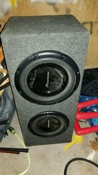 black and gray Pioneer subwoofer Mississauga, L5N
