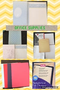 Office Supplies, 7 packs of paper, 3 duotangs and index pages Markham, L3S 3W6
