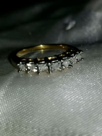 Size 8 Sterling Silver Gold Plated Diamond Band Salisbury, 28144