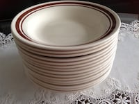 Set of 15 dining dishes grate conditions very clean no chips made in brazil Hamilton, L8V 4K6