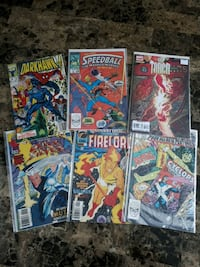 6 Marvel comic books Brampton, L7A 2R8