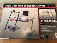 black folding desk and bookcase combo Fairfax, 22030