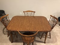 Solid wood expandable dining table  Brambleton