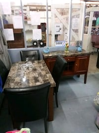 6 Piece Table Set  w/table top wine space