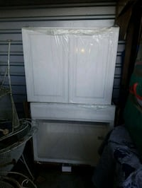 (( brand new ))WHITE BASE CABINET & WALL CABINET