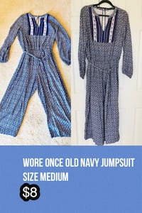 Wore once Old Navy jumpsuit. Size M Chantilly, 20152