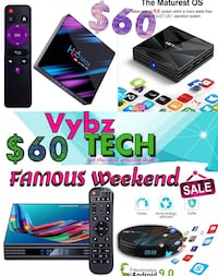ANDROID TV BOX FAMOUS WEEKEND SALE $$$60