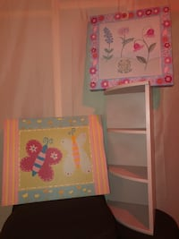 Pottery Barn Kids: Girls Room Set (Hanging Canvas/Wooden Nightstand) Purcellville, 20132