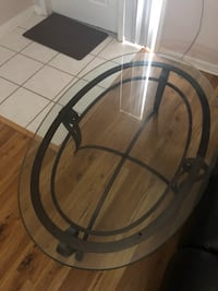 round black metal framed glass top table Pembroke Pines, 33024