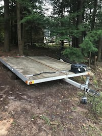 brown and gray deck over trailer