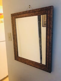 rectangular brown wooden framed mirror Ottawa, K2B 8L3