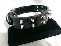 black leather belt with silver buckle Garland, 75041