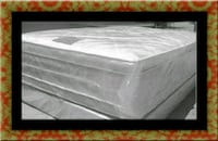 "Full 16"" double pillow top mattress with boxspring 46 km"