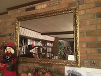 Beautiful gold mantel mirrors.  2 available $60 each.  Gold matte finish is nice, but are easily refurbishable.   Arnaudville, 70512