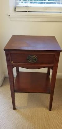 brown wooden single-drawer end table Washington