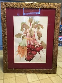 brown wooden framed painting of red flowers Brookfield, 06804
