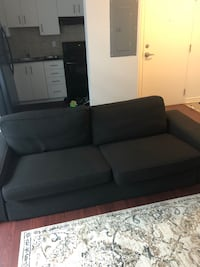 black fabric 2-seat sofa Toronto, M5V 2M7