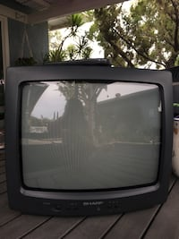 black CRT TV with remote Los Angeles, 91344
