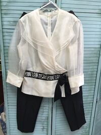 Women's size 14 evening cocktail dressy top and pants
