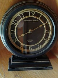 round black Sterling & Noble table clock Indianapolis, 46221