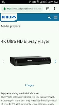 Phillips blu ray DVD player  San Angelo