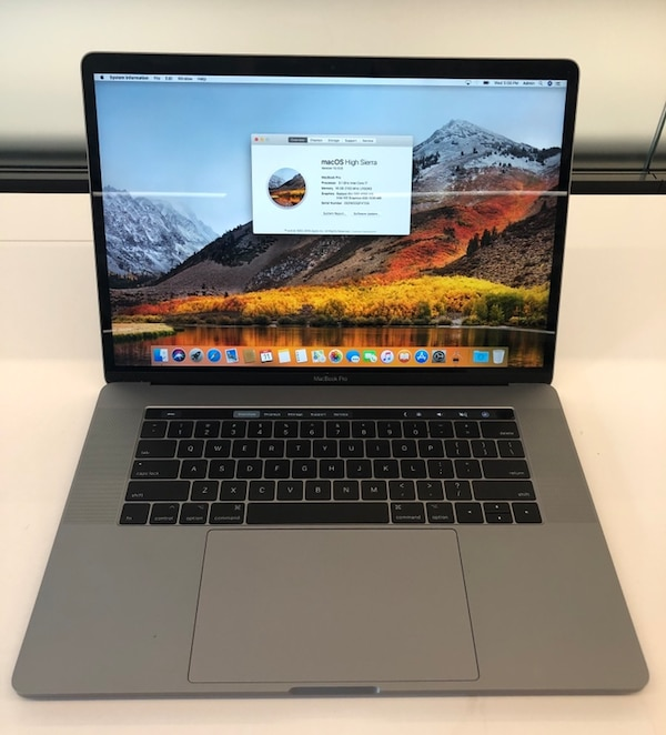 "MacBook Pro Touchbar 15"" - 3.1 Core i7 16GB Ram 1TB SSD - AppleCare"