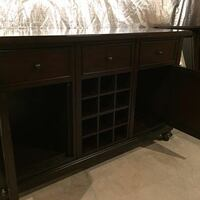 brown wooden single pedestal desk Woodbine, 21797