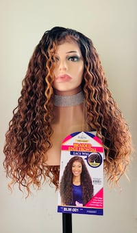 Russet Color 13x4 Braided Lace Front Wig