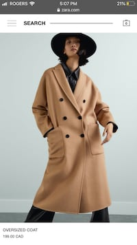 New with tags Zara oversized coat size small Toronto, M5A