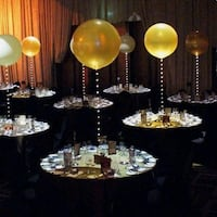 LED Balloon centerpieces and decor Mississauga